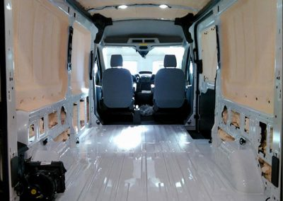 foam insulating cargo van